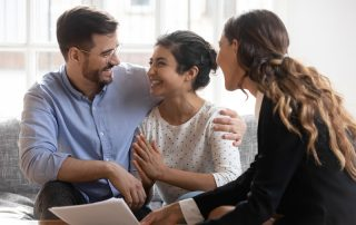 Meeting with a financial advisor to manage your finances in marriage