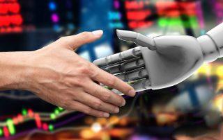 shaking hands concept, robo advisor vs financial advisor