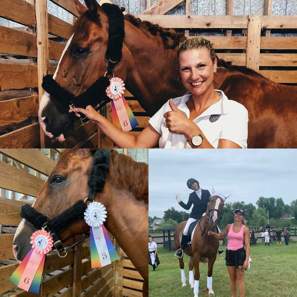 Claudia Weisser Assante financial advisor Montreal doing what she loves equestrian photo